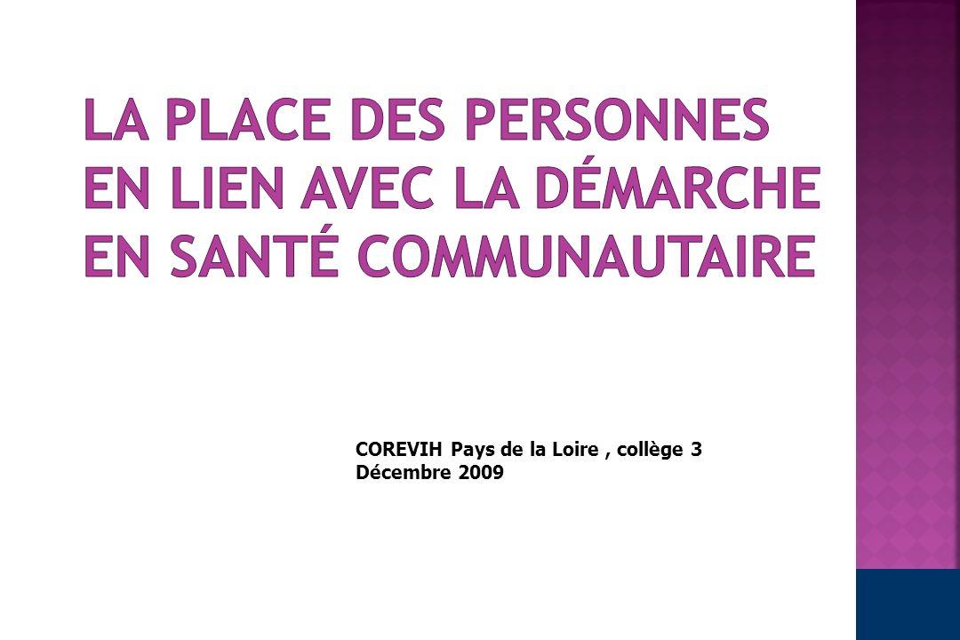 COREVIH Pays de la Loire, collège 3 Décembre 2009