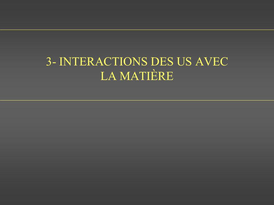3- INTERACTIONS DES US AVEC LA MATIÈRE