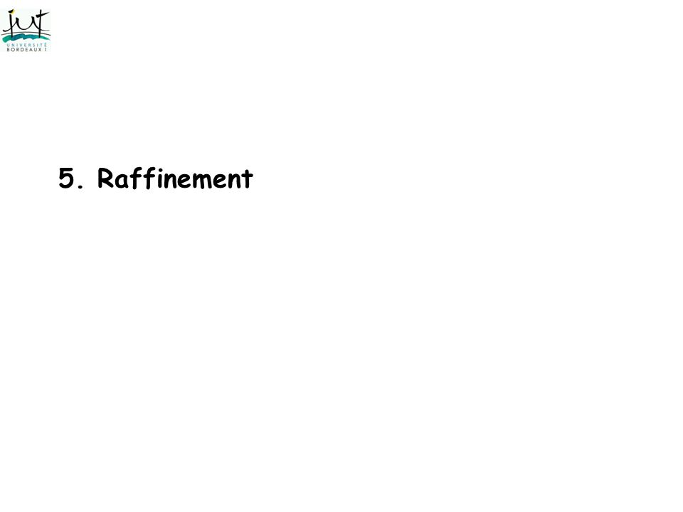 5. Raffinement