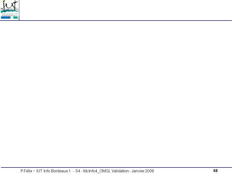 68P.Félix ~ IUT Info Bordeaux 1 - S4 - McInfo4_OMGL Validation - Janvier 2008