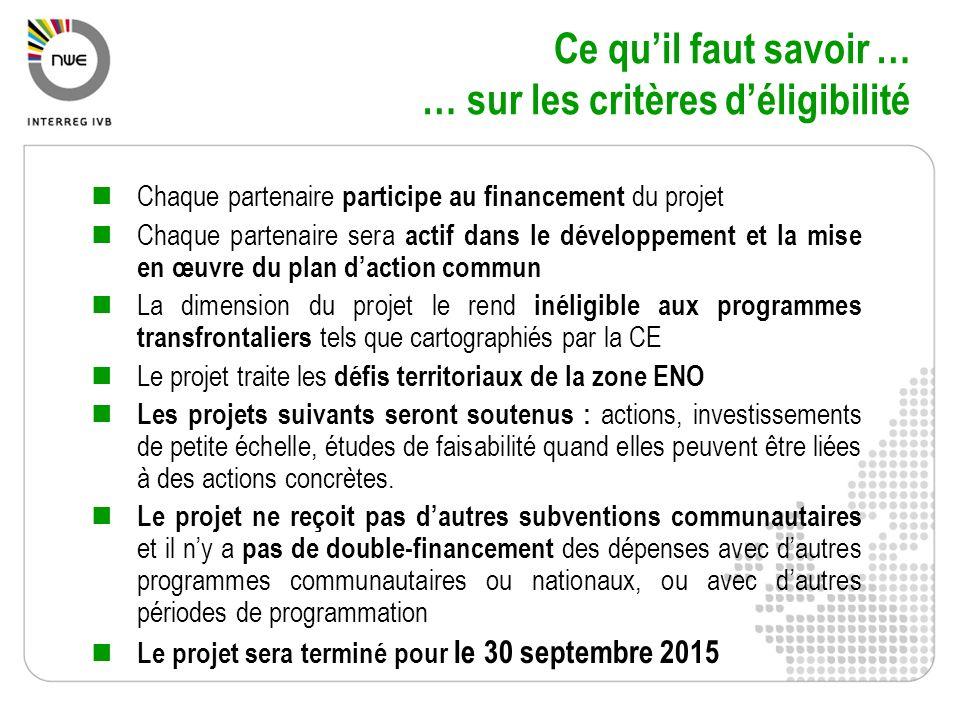 Chaque partenaire participe au financement du projet Chaque partenaire sera actif dans le développement et la mise en œuvre du plan daction commun La