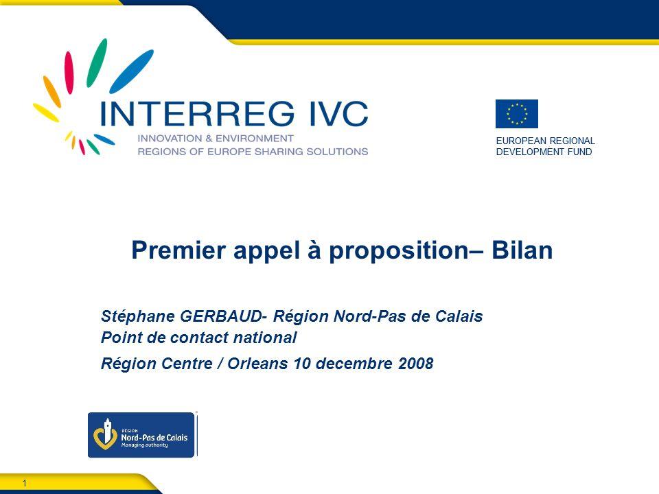 2 Orléans, 10 décembre 2008 Sommaire 1.Aperçu 2.Candidatures reçues 3.Verification de leligibilité 4.Evaluation- approbation des projets