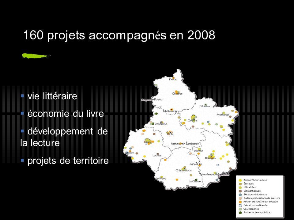 160 projets accompagn é s en 2008 vie littéraire économie du livre développement de la lecture projets de territoire