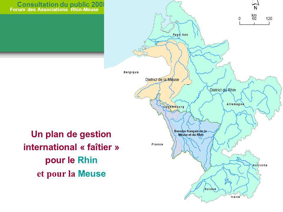 Consultation du public 2008 Forum des Associations Rhin-Meuse 4 octobre 2007 RHODES Un plan de gestion international « faîtier » pour le Rhin et pour
