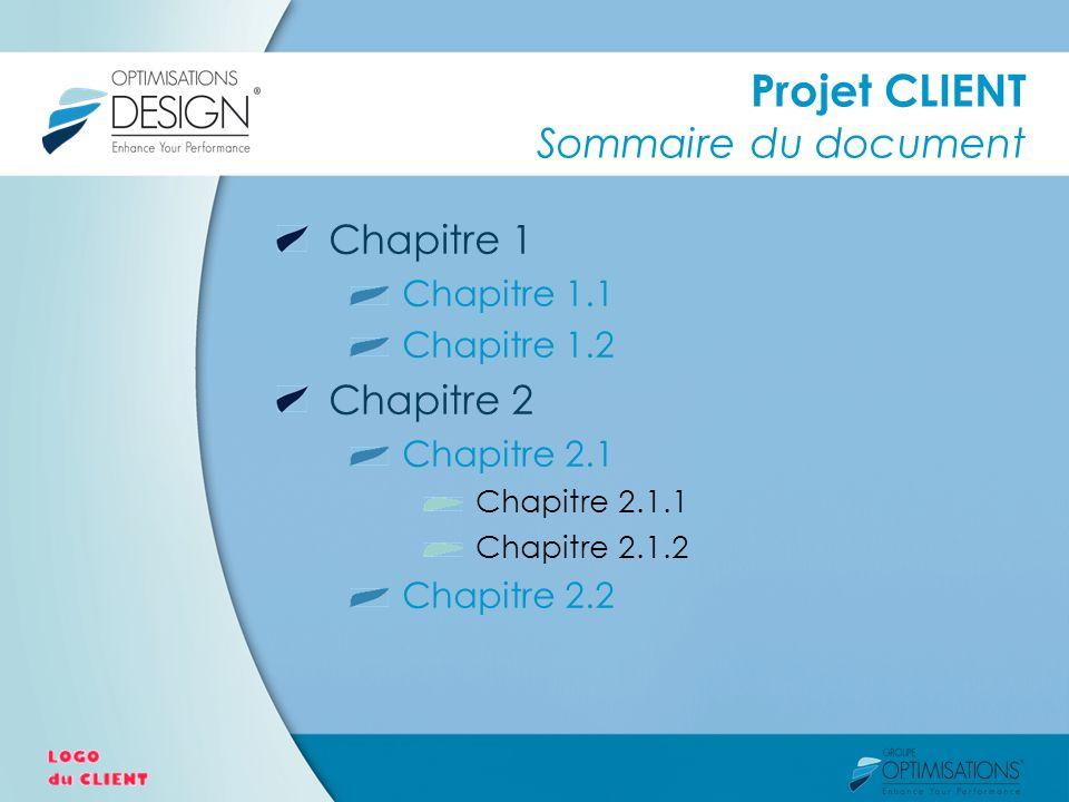 Projet CLIENT Sommaire du document Chapitre 1 Chapitre 1.1 Chapitre 1.2 Chapitre 2 Chapitre 2.1 Chapitre 2.1.1 Chapitre 2.1.2 Chapitre 2.2