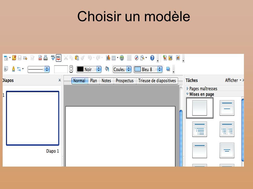 Choisir un modèle