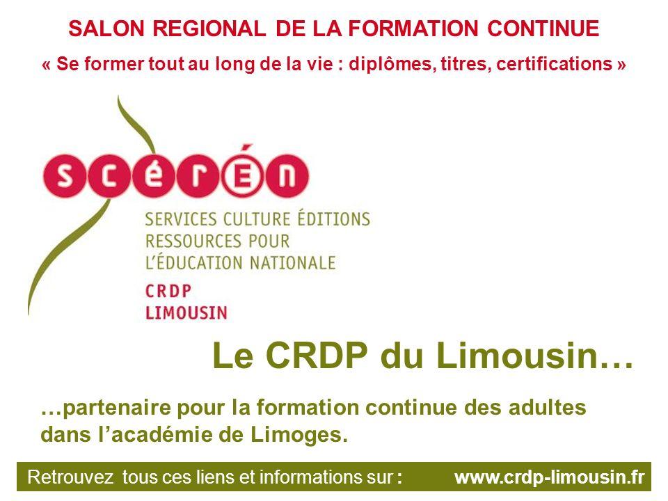 Au sein du réseau Scérén, des sites de référence sont dédiés à la documentation administrative La base nationale des sujets dexamens de lenseignement professionnel du CRDP de lacadémie de Montpellier Retrouvez tous ces liens et informations sur : www.crdp-limousin.fr