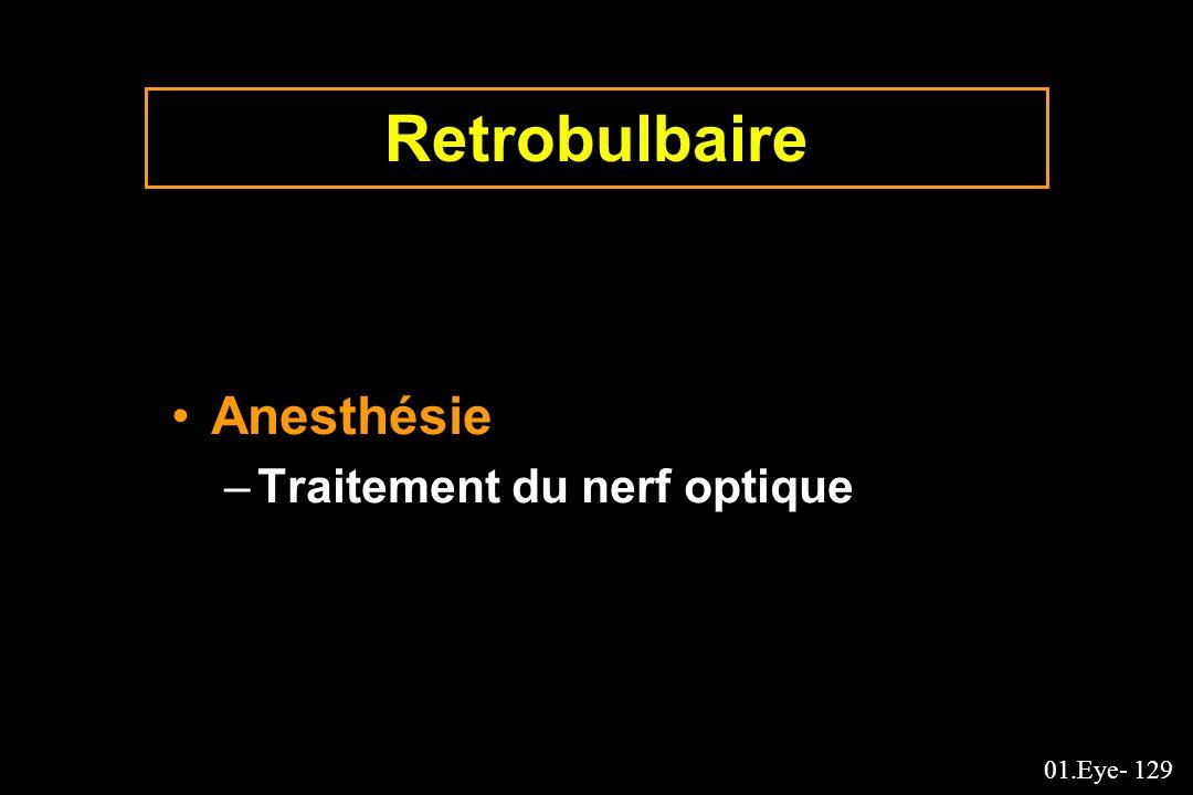 01.Eye- 129 Retrobulbaire Anesthésie –Traitement du nerf optique