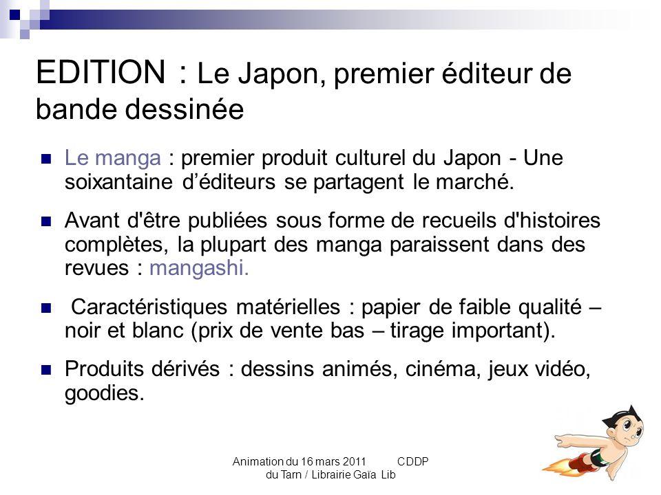 Animation du 16 mars 2011 CDDP du Tarn / Librairie Gaïa Lib LE POUVOIR DU LECTORAT Les mangashi proposent aux lecteurs des sondages de popularité et des classements des séries (concurrence très forte entre les mangaka).