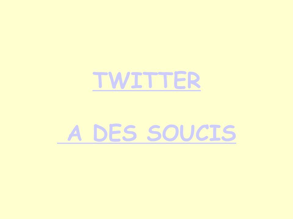 TWITTER A DES SOUCIS