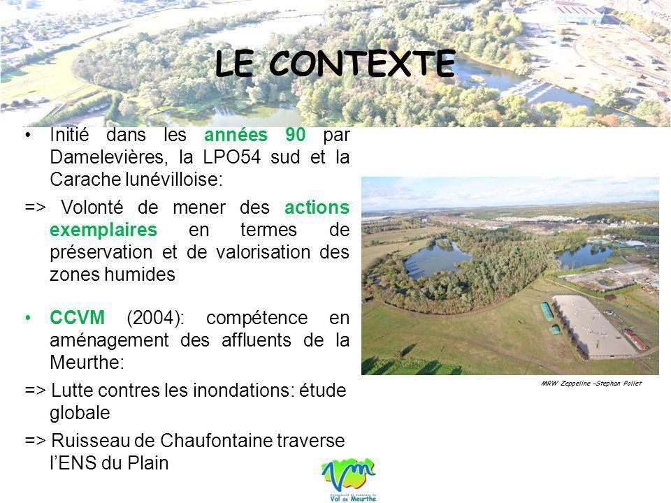 Plan de gestion de lENS du Plain (Ecolor, 2006): => PG sinscrit dans létude globale => Limiter les problèmes dinondation en zone urbaine, restaurer et mettre en valeur les rivières et milieux naturels intéressants Mission de maitrise dœuvre pour les travaux de restauration 2010/2011 (Sogreah Consultants).
