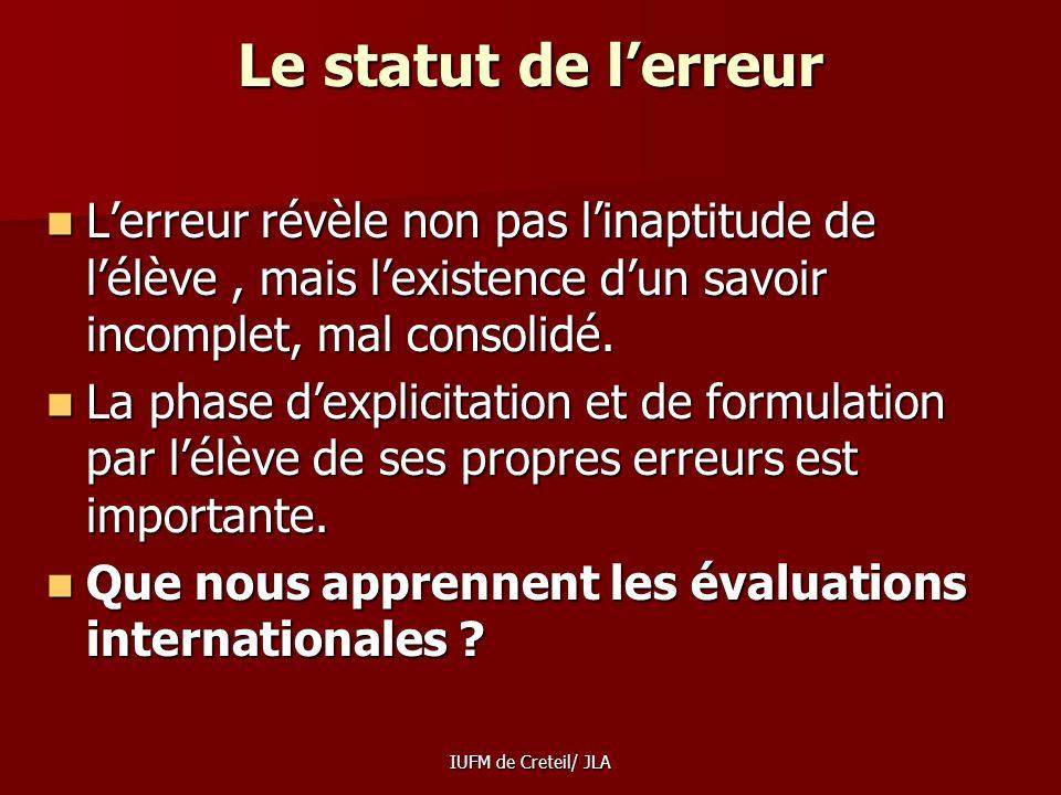 IUFM de Creteil/ JLA Bien utiliser les évaluations nationales, cest bien voir quil y a trois types de compétences évaluées : Bien utiliser les évaluat
