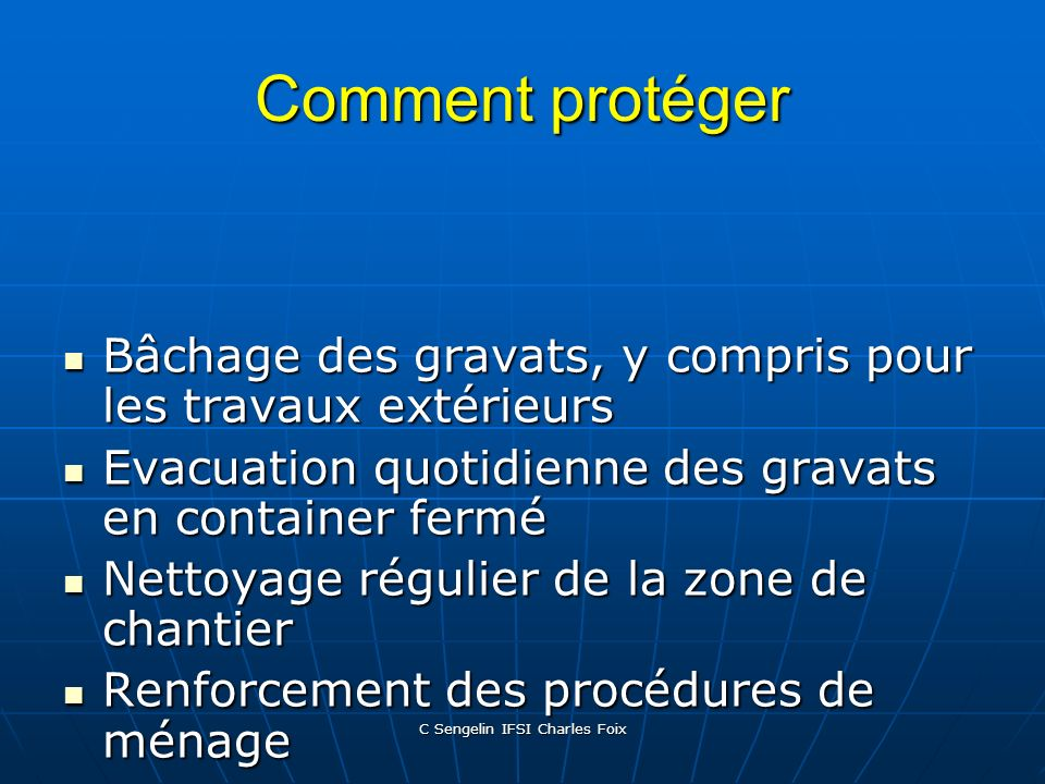 C Sengelin IFSI Charles Foix Comment protéger