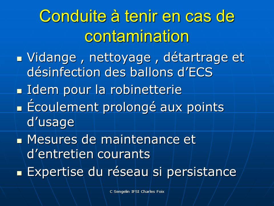 C Sengelin IFSI Charles Foix Circulaire DGS/DHOS du 22.04.02 Améliorer la gestion des installations à risque Améliorer la gestion des installations à