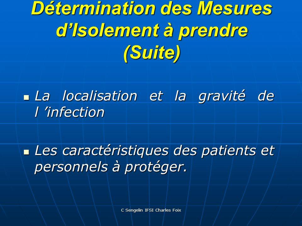 C Sengelin IFSI Charles Foix ISOLEMENT PROTECTEUR