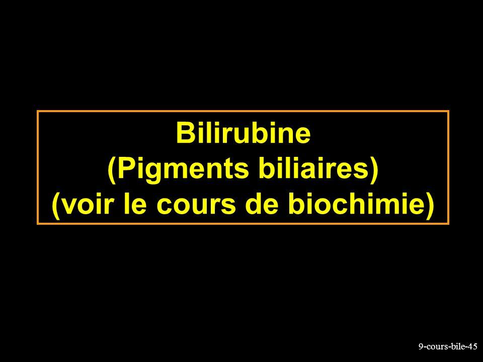 9-cours-bile-45 Bilirubine (Pigments biliaires) (voir le cours de biochimie)