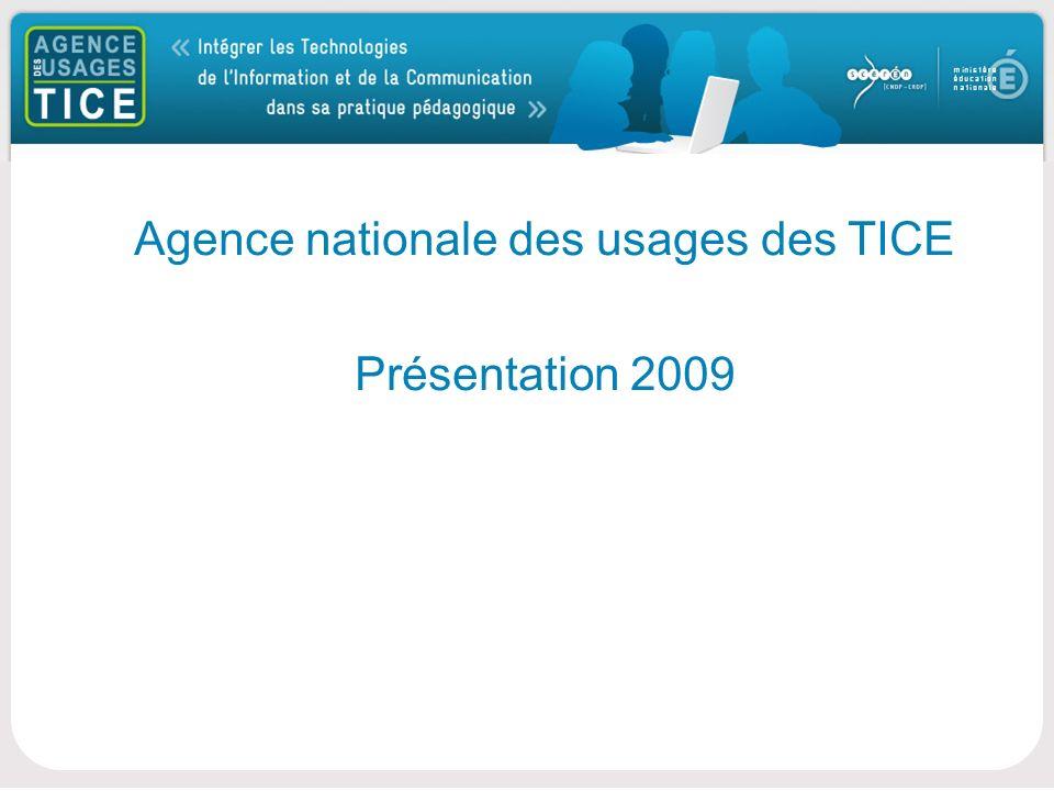 Bonjour Agence nationale des usages des TICE Présentation 2009