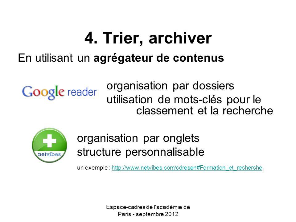 Espace-cadres de l académie de Paris - septembre 2012 4.