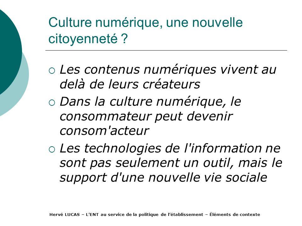 Culture numérique, une nouvelle citoyenneté .