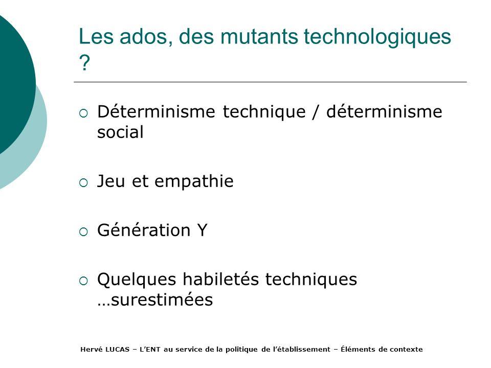 Les ados, des mutants technologiques .