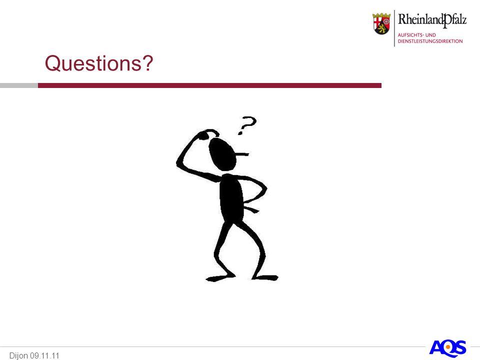 Dijon 09.11.11 Questions?