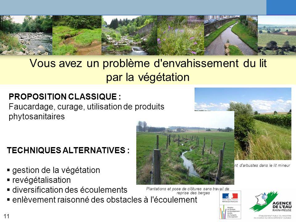 12 Exemple du Weltersbach à Laudrefang Limiter le piétinement ou comment traiter les causes du problème de lenvahissement par la végétation