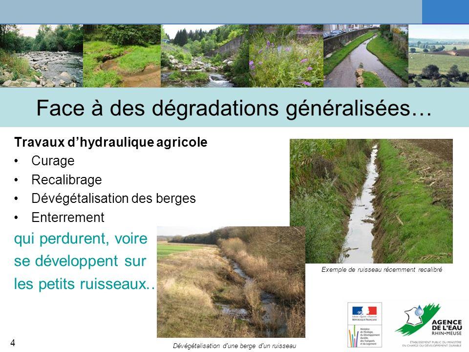 5 Des solutions équilibrées entre usages et préservation des milieux * Objectiver le problème : comparer le problème ressenti face au cours d eau et les enjeux réels identifiés Y a t il réellement un problème .