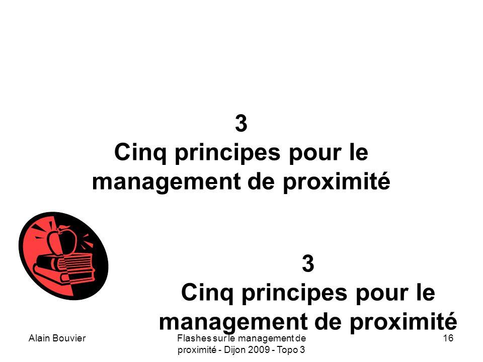 Alain BouvierFlashes sur le management de proximité - Dijon 2009 - Topo 3 17 Premier principe repérer les nœuds des réseaux