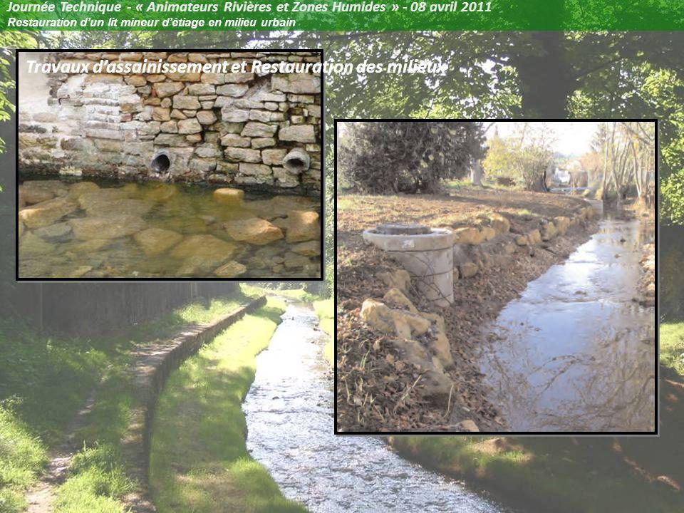 Journée Technique - « Animateurs Rivières et Zones Humides » - 08 avril 2011 Restauration dun lit mineur détiage en milieu urbain La Gorzia dans la traversée de Novéant-sur-Moselle (57)