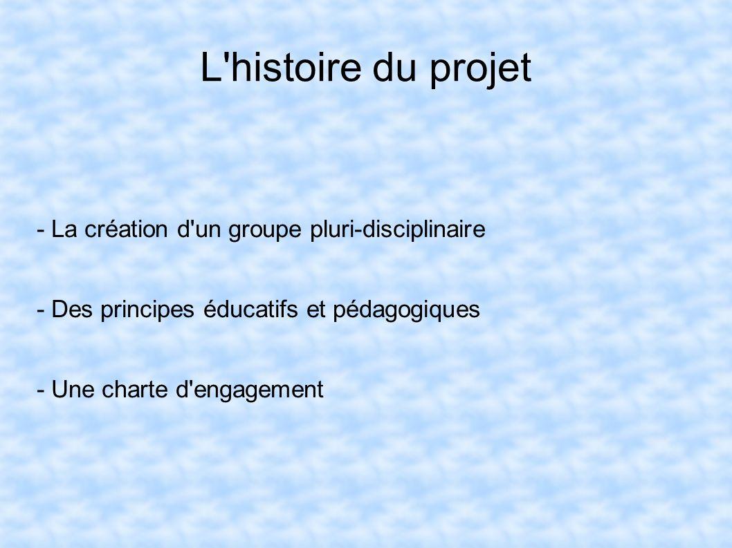 L'histoire du projet - La création d'un groupe pluri-disciplinaire - Des principes éducatifs et pédagogiques - Une charte d'engagement