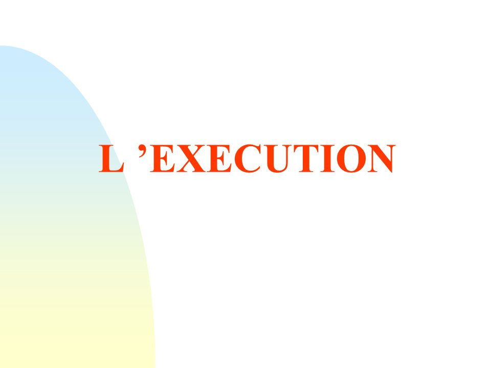 L EXECUTION