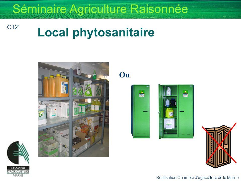 Séminaire Agriculture Raisonnée Ou Local phytosanitaire Réalisation Chambre dagriculture de la Marne C12