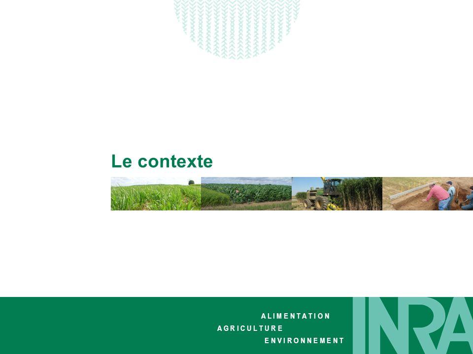 Journée dinformation « cultures dédiées » Stéphane Cadoux Journée dinformation « cultures dédiées » Stéphane Cadoux A L I M E N T A T I O N A G R I C U L T U R E E N V I R O N N E M E N T Biocarburants Défi climatique : +2°C à +6°C en 2100 (GIEC 2007) Défi énergétique : diminution des réserves fossiles Défi alimentaire : compétition food / non food Défi environnemental : impacts environnentaux (globaux et locaux) Le contexte global