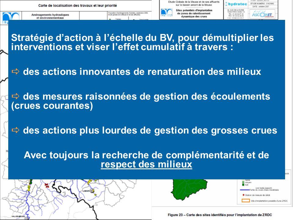 Stratégie daction à léchelle du BV, pour démultiplier les interventions et viser leffet cumulatif à travers : des actions innovantes de renaturation d