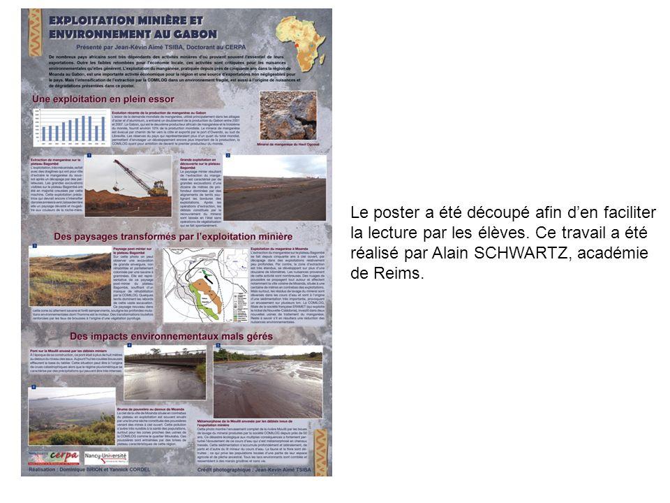 Le poster a été découpé afin den faciliter la lecture par les élèves. Ce travail a été réalisé par Alain SCHWARTZ, académie de Reims.