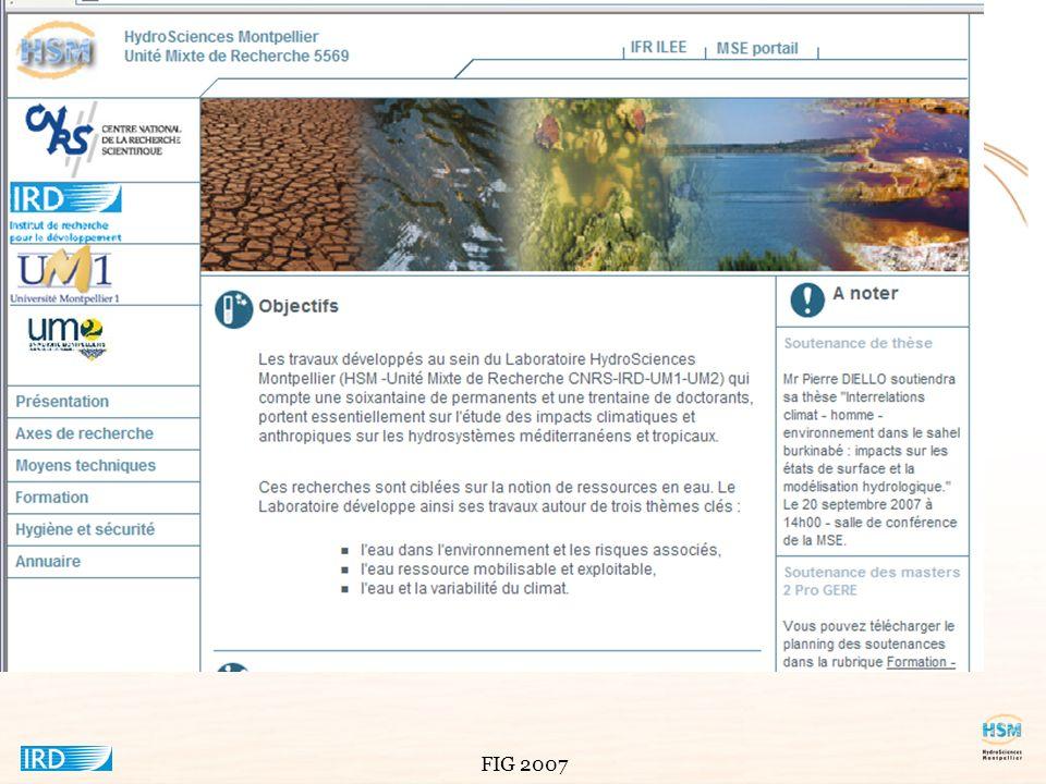 FIG 2007 Le logiciel client ORION