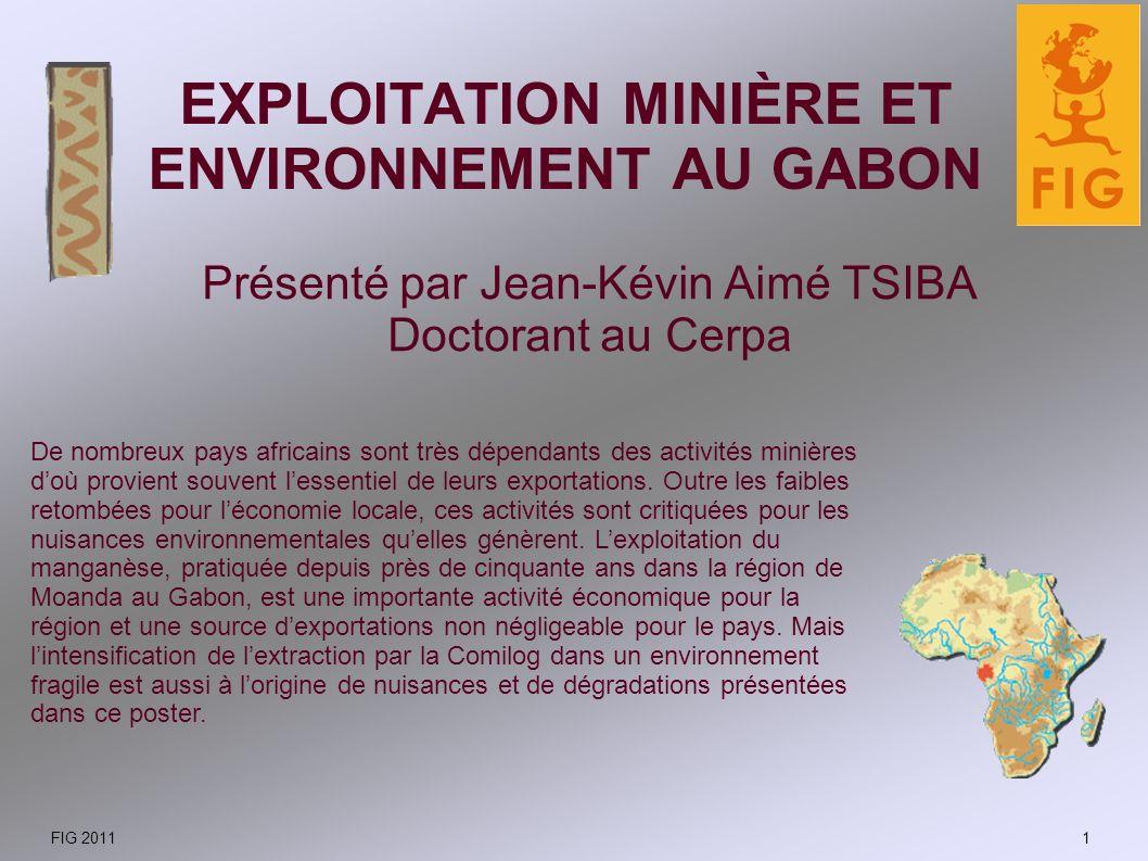 Évolution récente de la production de manganèse au Gabon Lessor de la demande mondiale de manganèse, utilisé principalement dans les alliages dacier et daluminium, a entraîné un doublement de la production du Gabon entre 2001 et 2007.