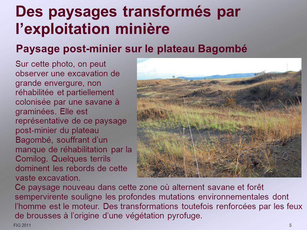 Exploitation du manganèse à Moanda Lextraction du manganèse sur le plateau Bagombé se fait depuis cinquante ans à ciel ouvert, par décapage dans des exploitations relativement peu profondes.