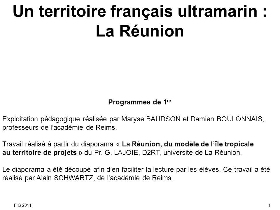 Les objectifs de lexercice Aborder le développement dun territoire ultramarin de lUnion européenne à partir dune étude de cas sur La Réunion.