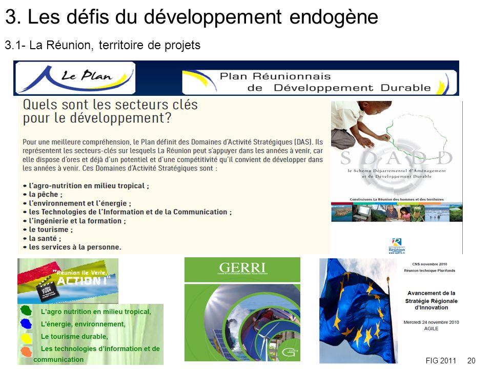 3.2- La Réunion à lheure du développement endogène et de la croissance durable, intelligente et inclusive FIG 201121
