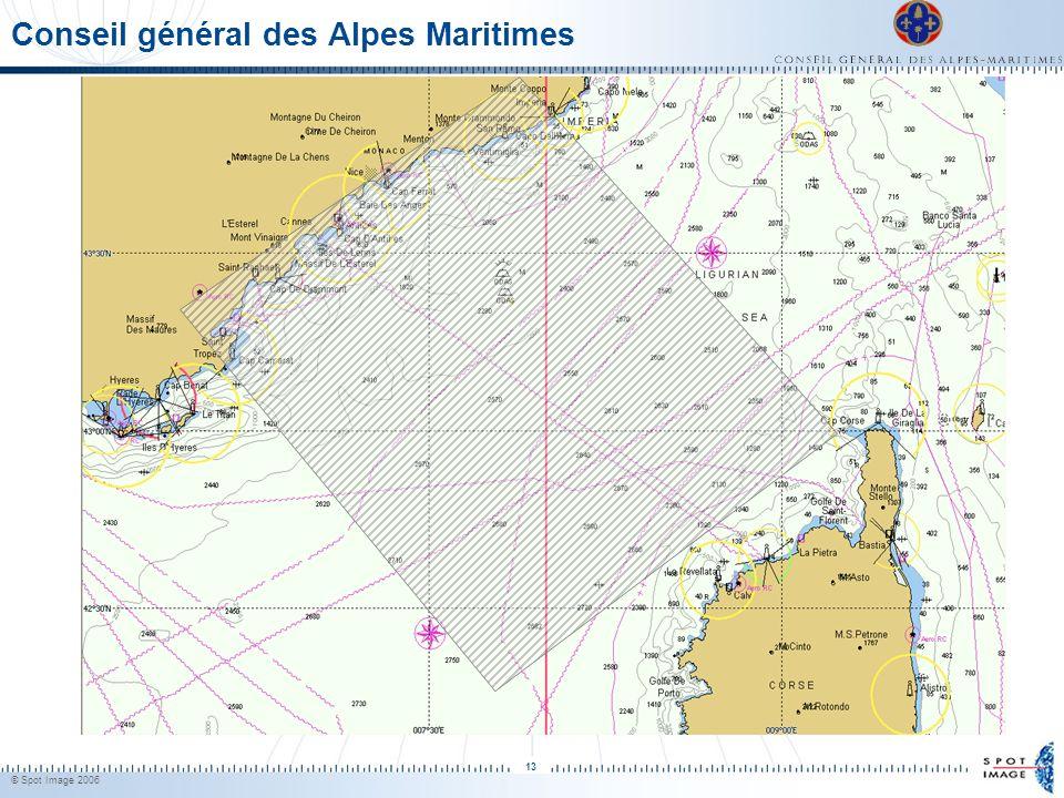 © Spot Image 2006 13 Conseil général des Alpes Maritimes