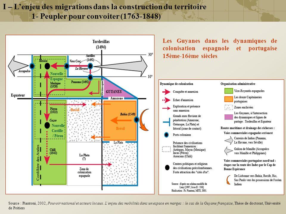 Les Guyanes dans les dynamiques de colonisation espagnole et portugaise 15ème-16ème siècles I – Lenjeu des migrations dans la construction du territoi