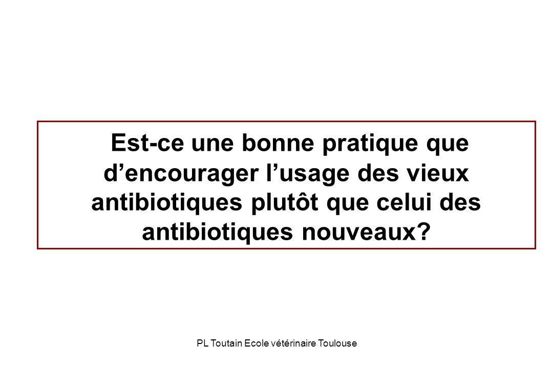 PL Toutain Ecole vétérinaire Toulouse Est-ce une bonne pratique que dencourager lusage des vieux antibiotiques plutôt que celui des antibiotiques nouv
