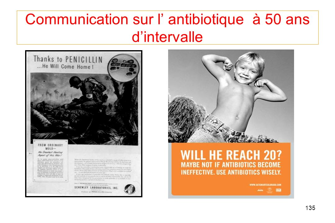 135 Communication sur l antibiotique à 50 ans dintervalle