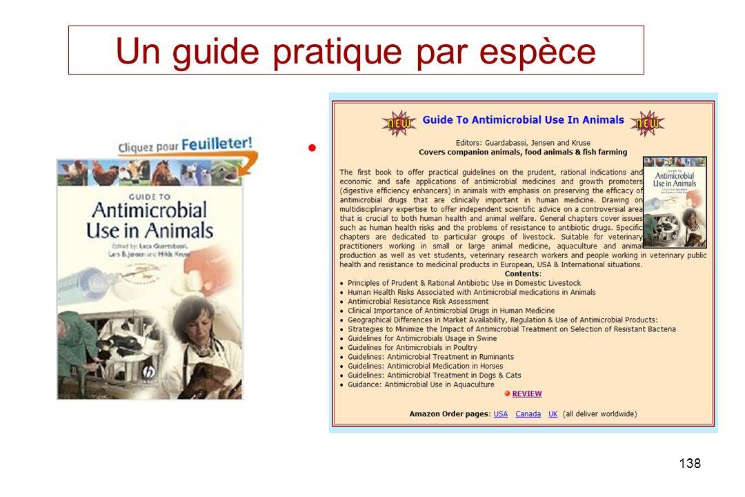 138 Un guide pratique par espèce