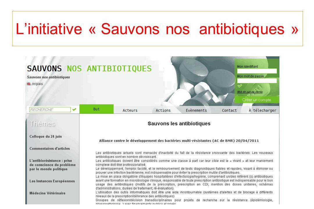 Linitiative « Sauvons nos antibiotiques »