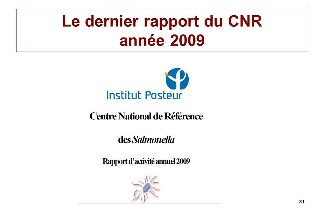 Le dernier rapport du CNR année 2009 31