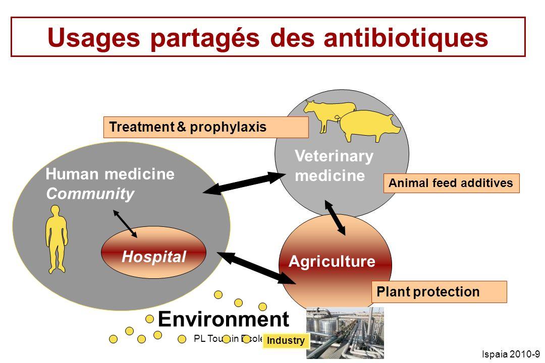 PL Toutain Ecole vétérinaire Toulouse Ispaia 2010-9 Usages partagés des antibiotiques Treatment & prophylaxis Human medicine Community Veterinary medi