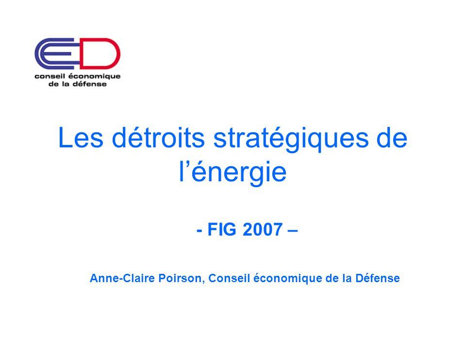 Les détroits stratégiques de lénergie - FIG 2007 – Anne-Claire Poirson, Conseil économique de la Défense