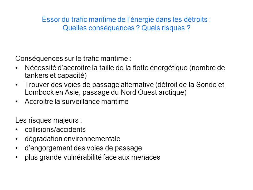 Essor du trafic maritime de lénergie dans les détroits : Quelles conséquences ? Quels risques ? Conséquences sur le trafic maritime : Nécessité daccro